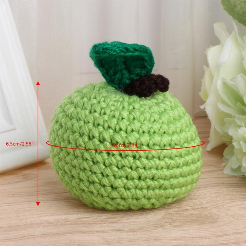 Baby Kids Child Cute Crochet Knit Apple Toy Photography Props ...