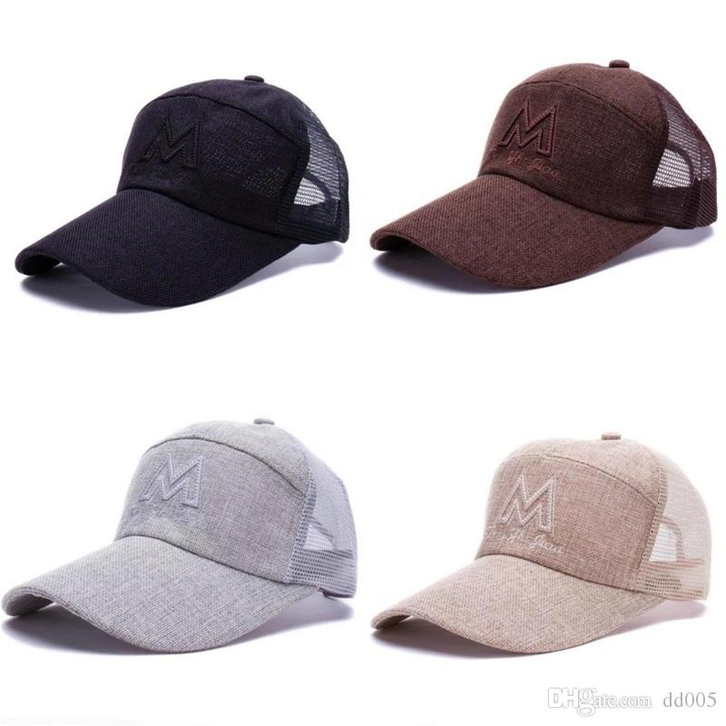 b5f464ae9504a Flax Material Breathable Cap For Men Women Outdoor Sun Visor Ball Hats Mesh  Sports Snapback Caps Good Quality 6cf Dd Customized Hats Custom Hat From  Dd005