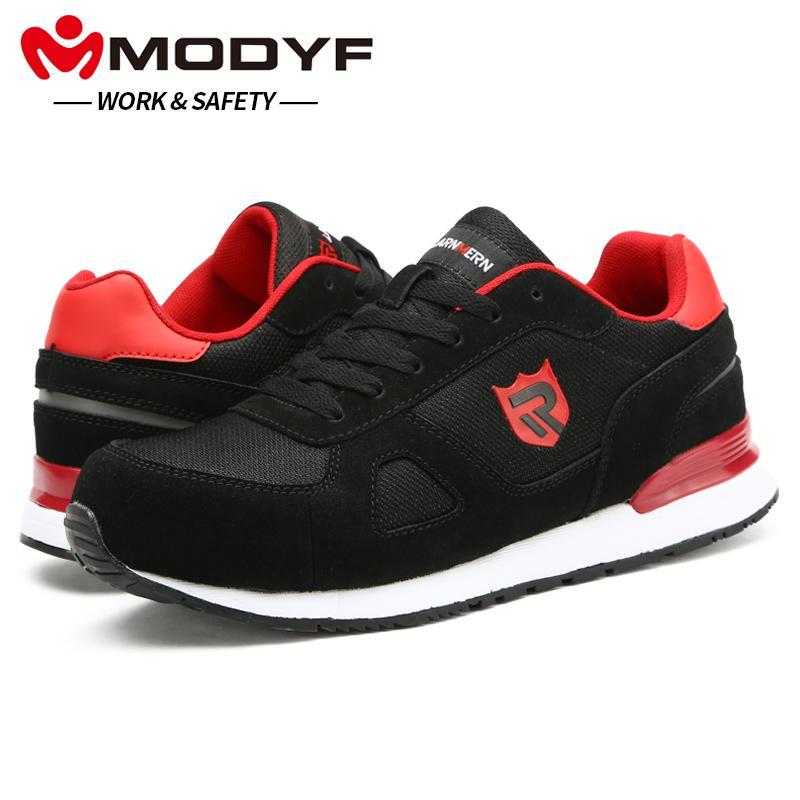 Acquista 2019 MODYF Scarpe Antinfortunistiche Da Uomo Stivali Da Lavoro In  Acciaio Con Puntali Scarpe Da Skateboard Casual Sneaker Con Caviglia  Calzature ... 62c97d82470