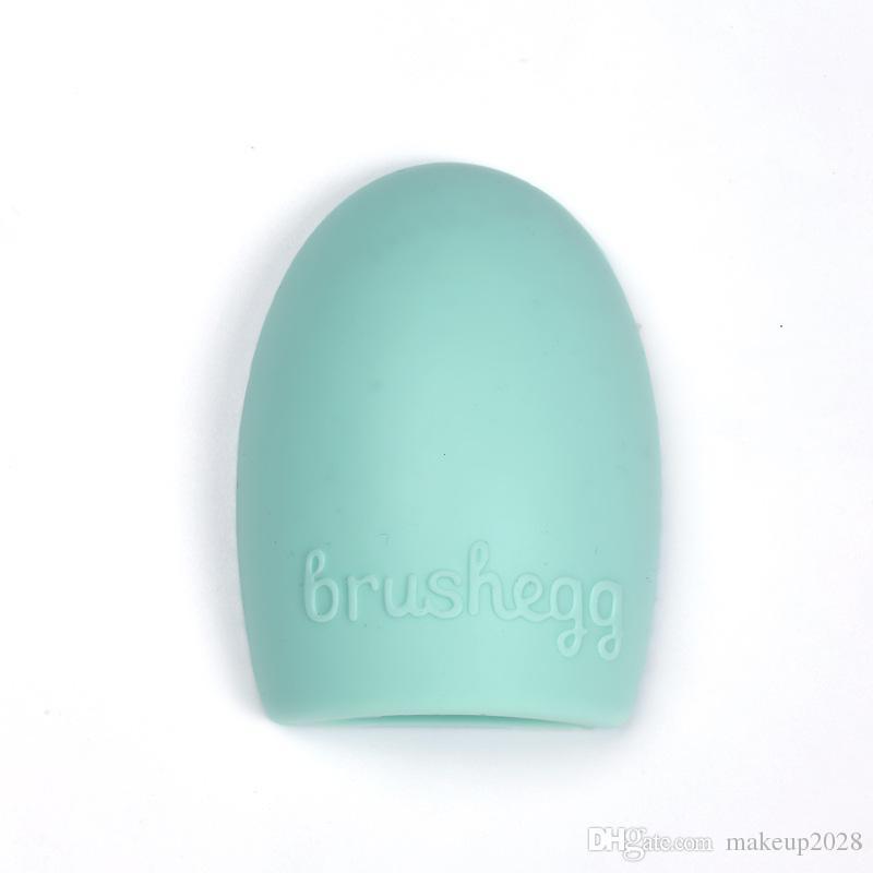 Brushegg limpeza luva de limpeza da composição de lavagem Escova Silica Luva Scrubber Conselho Cosmetic limpar as ferramentas Pincel Cleaner Free DHL 207