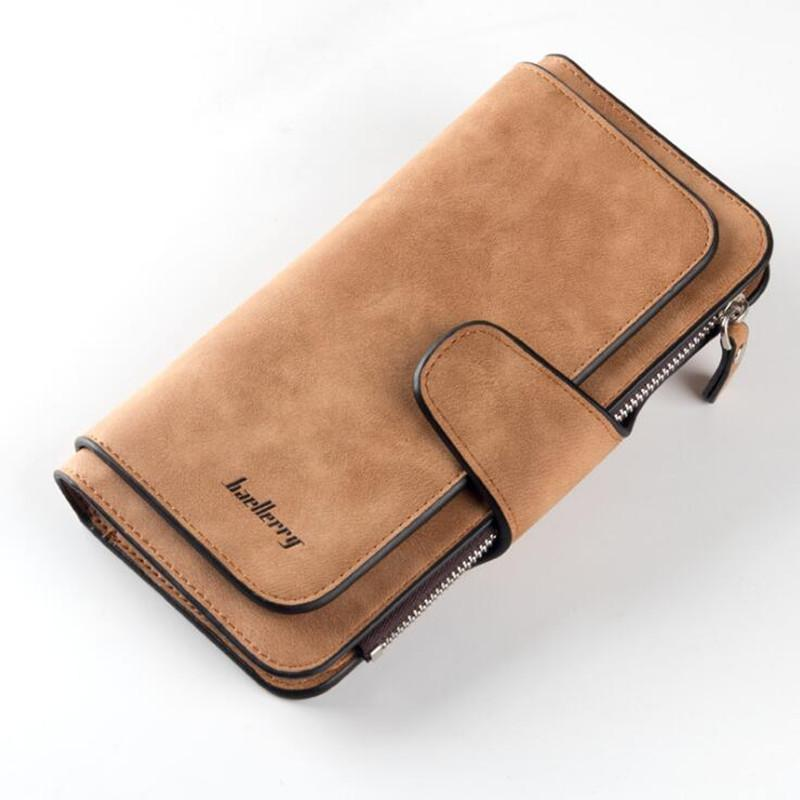 Baellerry Brand Wallet Women Big Capacity Three Fold Lady Purses High Quality Scrub Leather Female Wallets carteira feminina