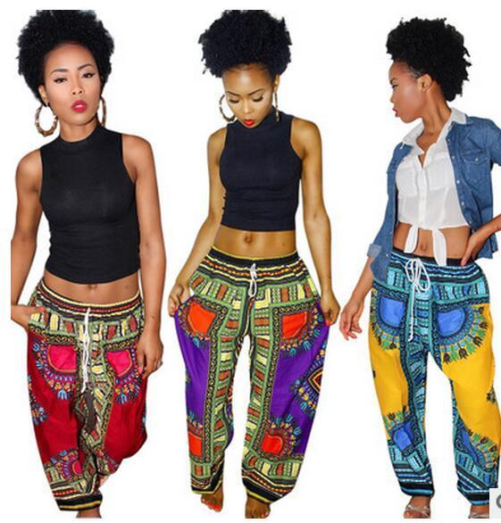 34383f42775 2019 2018 New Summer Women Pants Fashion Printing Flare Wide Leg ...