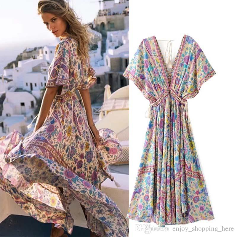 427843c78e2 Acheter Femmes Robe De Bain Vêtements Robes Robe Femme Longue Designer  Profonde V Cou Robe Longue Maxi Robe Robes De Plage Robes De Fiesta De   21.71 Du ...