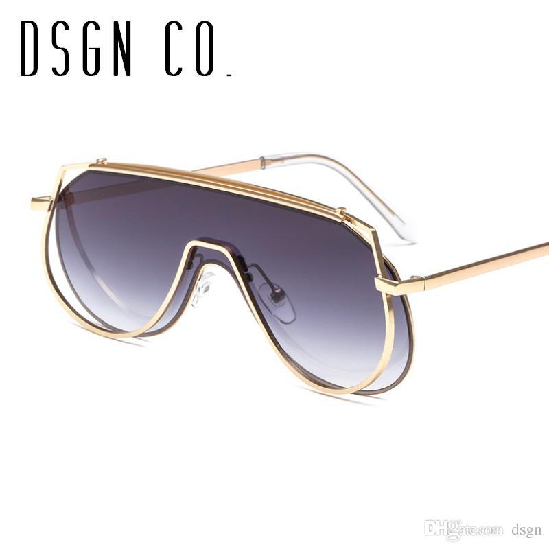 2638eb5ea4a97 2018 Modern Luxury Moda Óculos De Sol Para Homens E Mulheres Elegante Piloto  Quadro 7 Cor Celebridade Marca Óculos De Sol UV400 De Dsgn,  4.7    Pt.Dhgate.