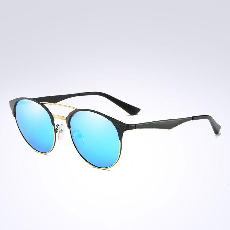 296d827d78a New Polarized Women Fashion Round Sunglasses Men Retro Rivet High Quality  Polaroid Brand Design Round Metal SunGlasses Female Eyeglasses Round  Sunglasses ...