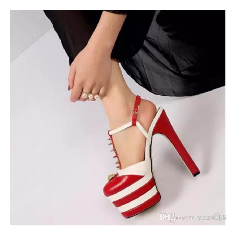 Neue 2018 heißen dicken Boden Plattform Schuhe Patchwork Frau Sommer Sandalen Gladiator Super sexy Stiletto Ferse Mode Schuhe Eu 34-39