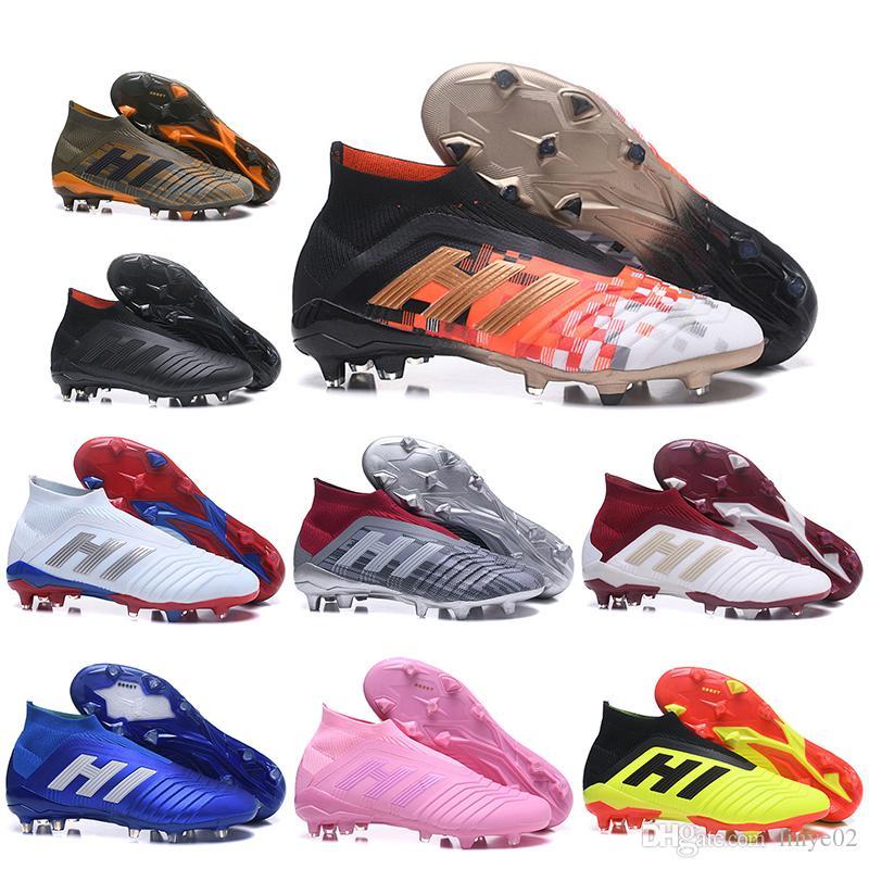 f7cdbff2a706 Kids High Ankle Football Boots Youth Children X Predator Telstar 18+ ...