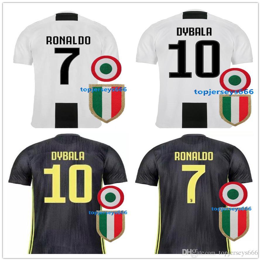 731f04f7a 2018 Thai Quality RONALDO JUVENTUS Soccer Jersey Men 18 19 7  JUVE CR7 9  Higuain 10 Dybala Mandzukic Home Away Football Shirt Uniforms JUVENTUS  Soccer ...