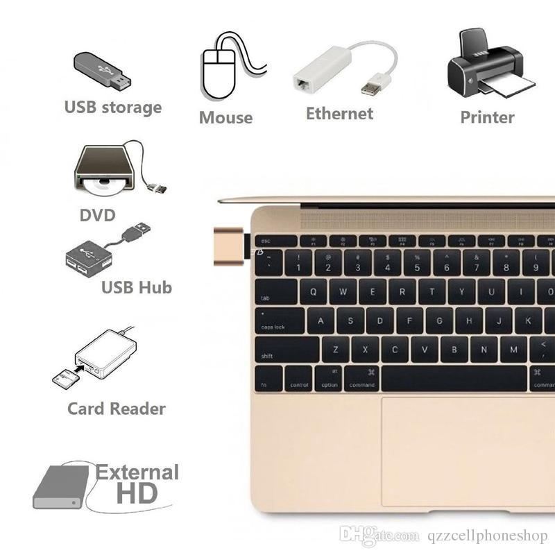 Convertitore OTG USB Type Type C C-3.0 USB da USB a Femmina-Maschio app 5s plus 4C Samsung S8 Nexus 6P