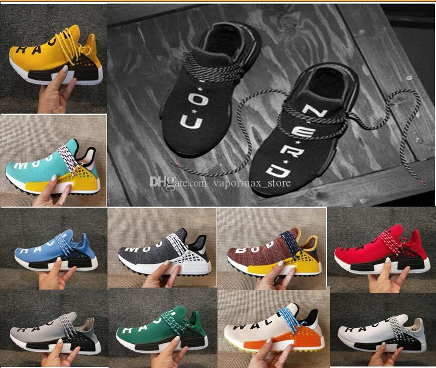 sale cheap price with credit card cheap price 2018 Wholesale Human Race Hu trail Running Shoes Men Women Pharrell Williams Yellow noble ink core Black Red Runner Sneaker Shoes high quality online Inexpensive cheap price view cheap price NRHor