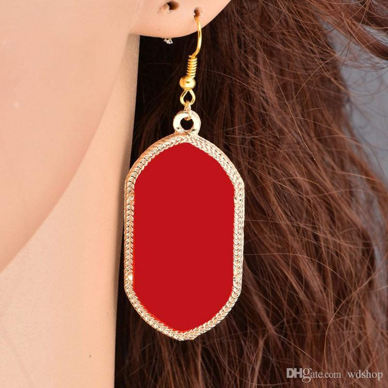 Mode Kendra Style Surface Lisse Or Balancent Boucles D'oreilles Signature Boucles D'oreilles Pour Les Femmes De Mariage De Bijoux Bijoux Drop Shipping