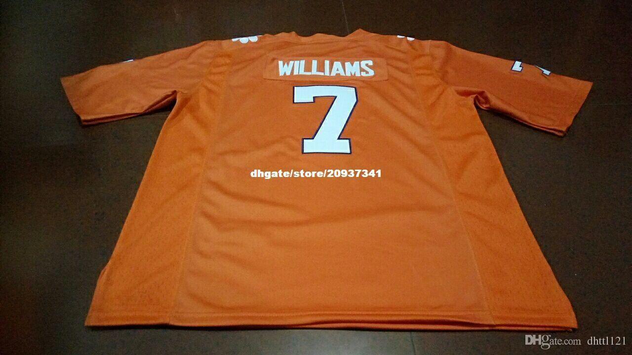 newest 7c171 2fb0d Cheap Men #7 Orange white Mike Williams Clemson Tigers Alumni Jersey  Stitched Football jerseys