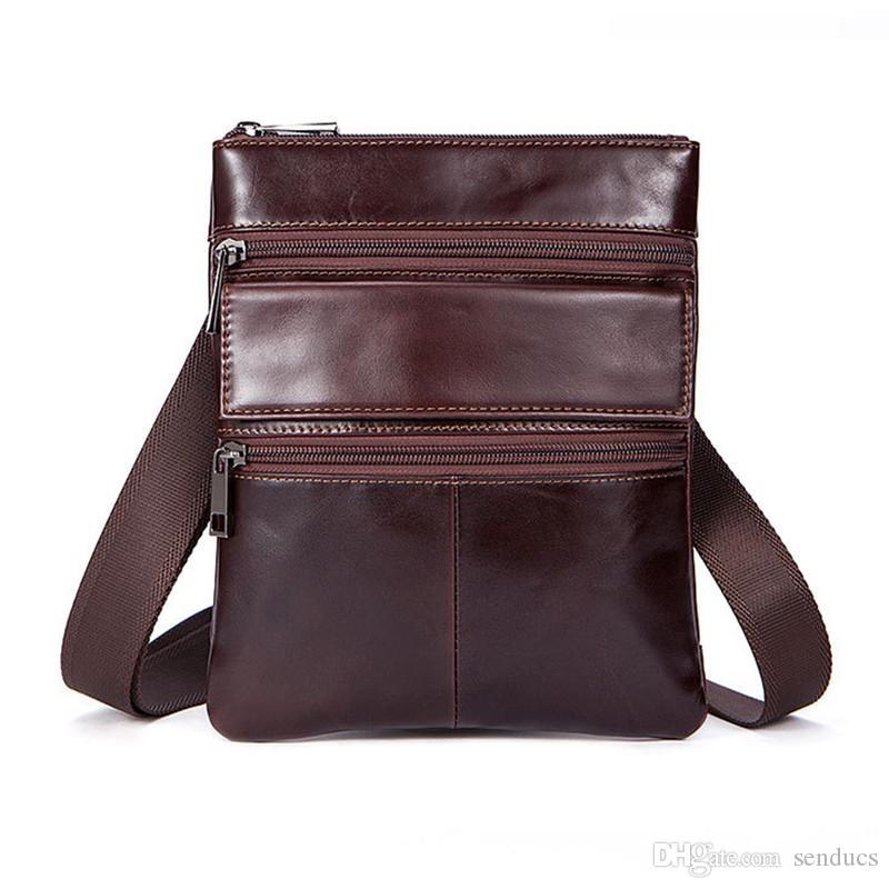 ae4987b6901 100% Genuine Leather Men Bag Men Messenger Bags Fashion Small ...
