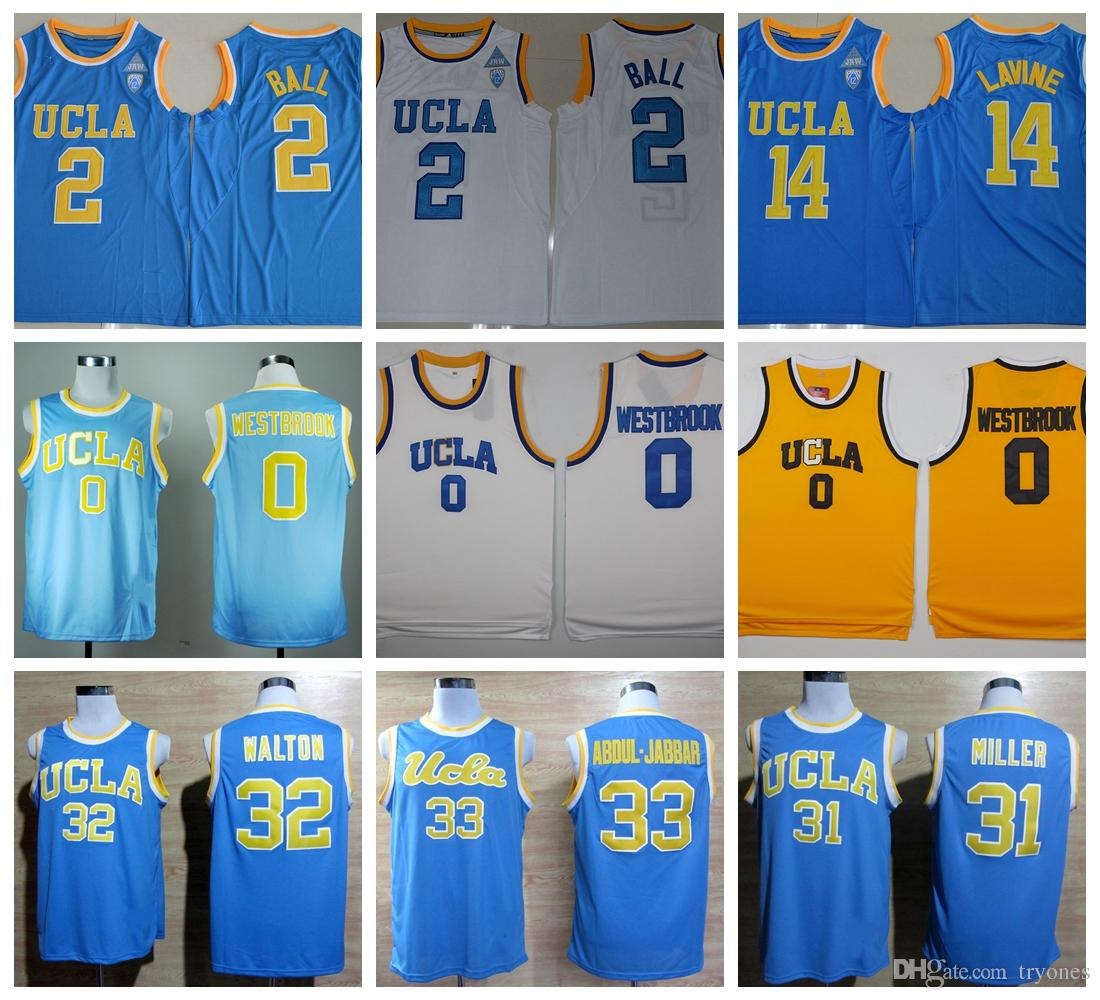 c7efeea78 Ucla Bruins College Basketball Jerseys 0 Russell Westbrook 2 Lonzo Ball 33  Kareem Abdul Jabbar 31 Reggie Miller 32 Bill Walton Shirts Canada 2018 From  ...