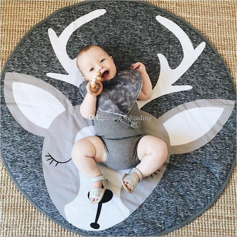 INS Baby Creeping Mats Fuchs Hirsch Einhorn Hase Löwe Schwan Spielmatte Dekorative Krabbeldecke Kinderzimmer Bodenteppich 13 Arten C4439