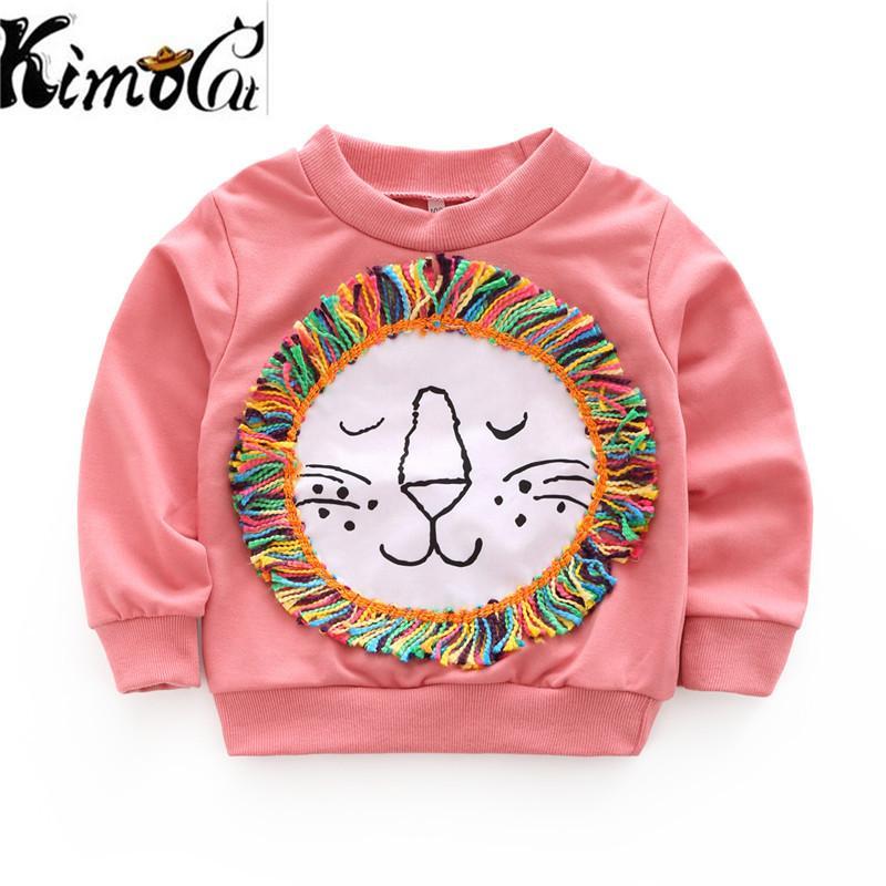 7760e607cfc5 2019 Kimocat Spring New Baby Girl Clothes O Neck Long Sleeve Tops ...