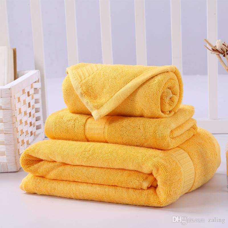 New Bamboo Fiber And Cotton Blend Bathroom Towels Set Of 3 Hotel And ...