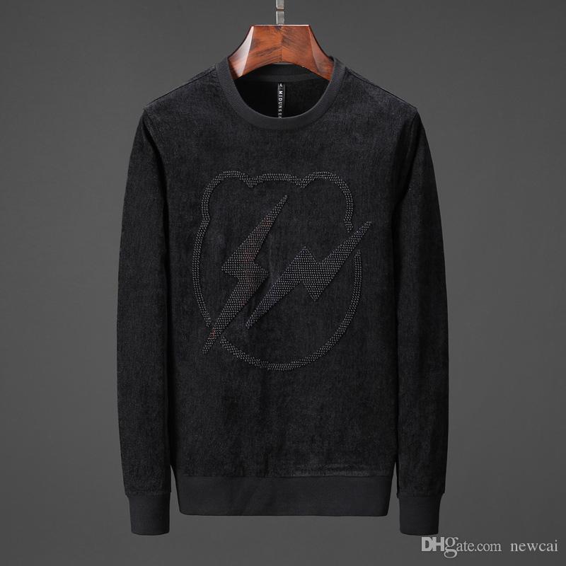 Herren Pullover Sweatshirts Mode Stickerei Hohe Qualität Männer Herbst Winter Baumwolle Casual Langarm Sweatshirt Sport Lauf Tops # 1269