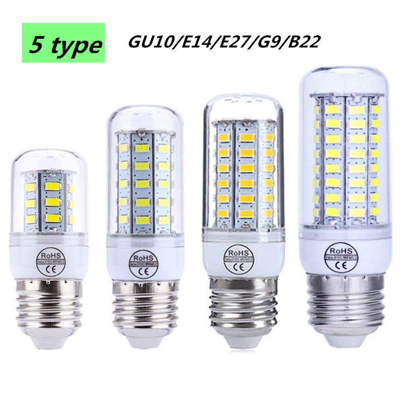 Gratuite V De Livraison G9 Lampe Gu10 220 Lumière Led E27 Lustre Maïs E14 Ampoule Smd B22 Bougie 5730 HE92IDW