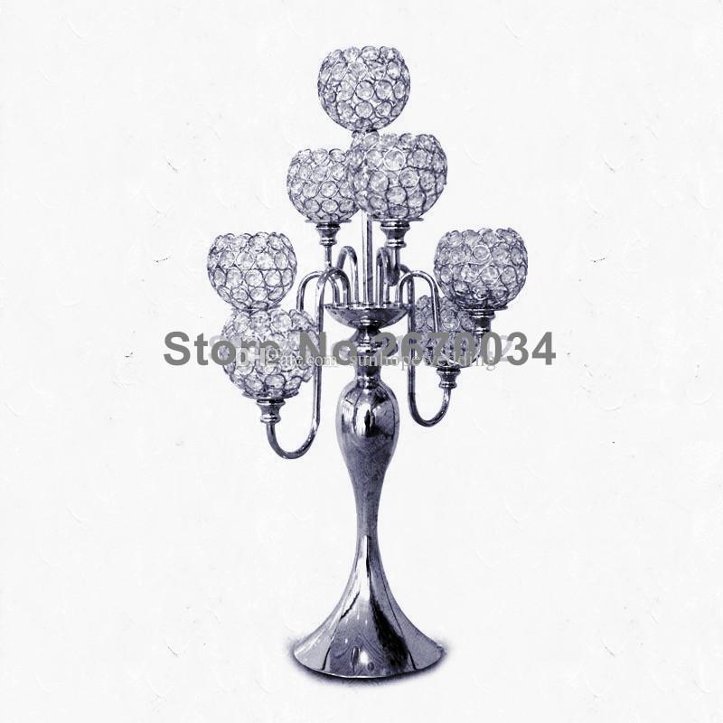 cristal de casamento frisado pilar pilar mesa centrais para casamentos decor novo