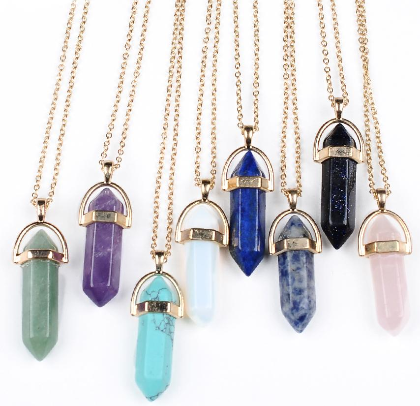 Necklace gold chain jewelry healing crystals amethyst rose quartz chakra healing point women men natural stone pendants leather necklaces wholesale necklace gold chain jewelry healing crystals amethyst rose quartz chakra healing point women men natural st Choice Image