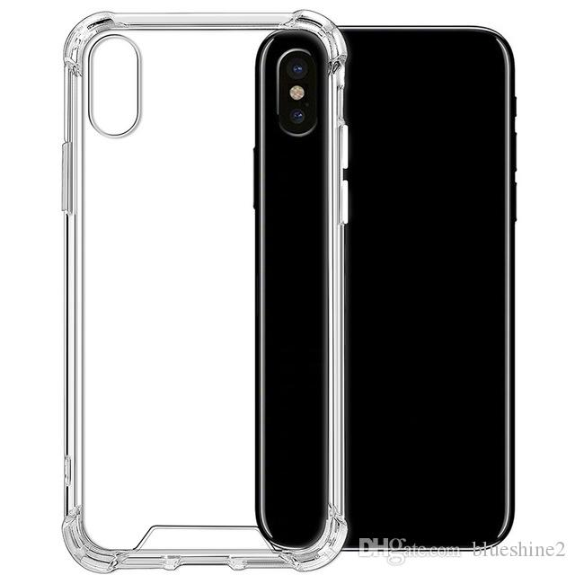 quality design 2307a 2c275 New iPhone XS Case Ultra Soft Transparent TPU For Iphoe XR Silicone Cover  Thicker Airbag Shockproof For iPhone X Crystal Clear Case..