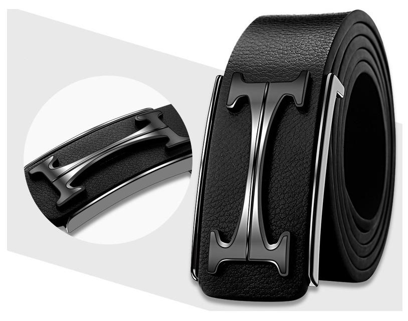 New Fashion Mens Business Belts Luxury Ceinture Buckle Genuine Leather Belts For Men Waist Belt with gift box in good price