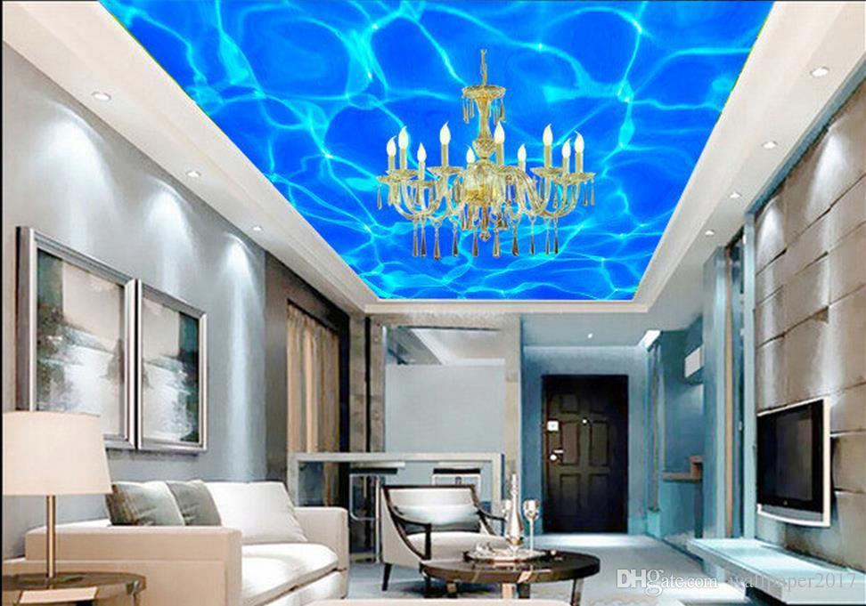 Water Wave 3d Ceiling Design Ceiling Murals Wallpaper