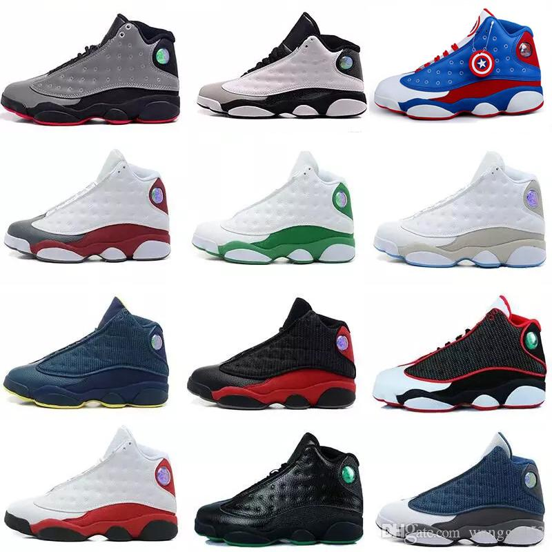 1839accb0aa Cheap 2019 Shoes 13 XIII 13s Basketball Shoes Men Women 13 Bred Hologram  White Black Grey Teal Sports Sneaker Shoe Basketball Trainers Basketball  Shoes For ...