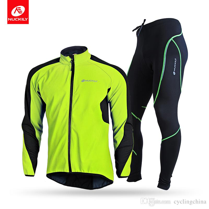 1a06cece8 NUCKILY Men S High Quality Cycling Clothing Water Restistant Windproof  Riding Composite Fleece Jacket Set NJ604 WNS903 W Bike Shorts Cycling Jersey  From ...