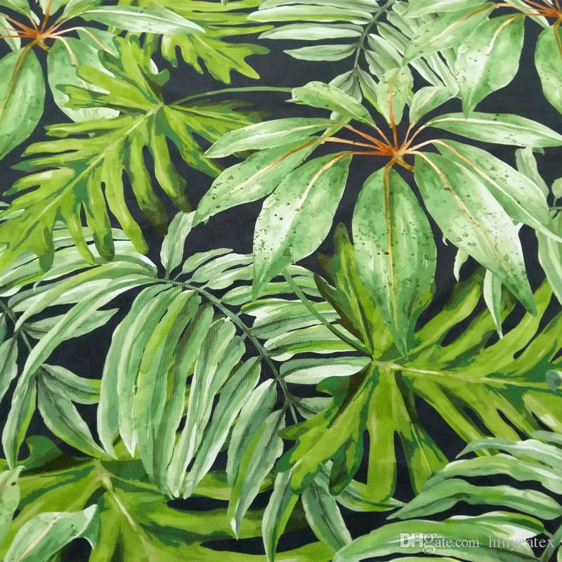 2019 Tropical Big Green Plant Digital Print Leaf Chair Upholstery