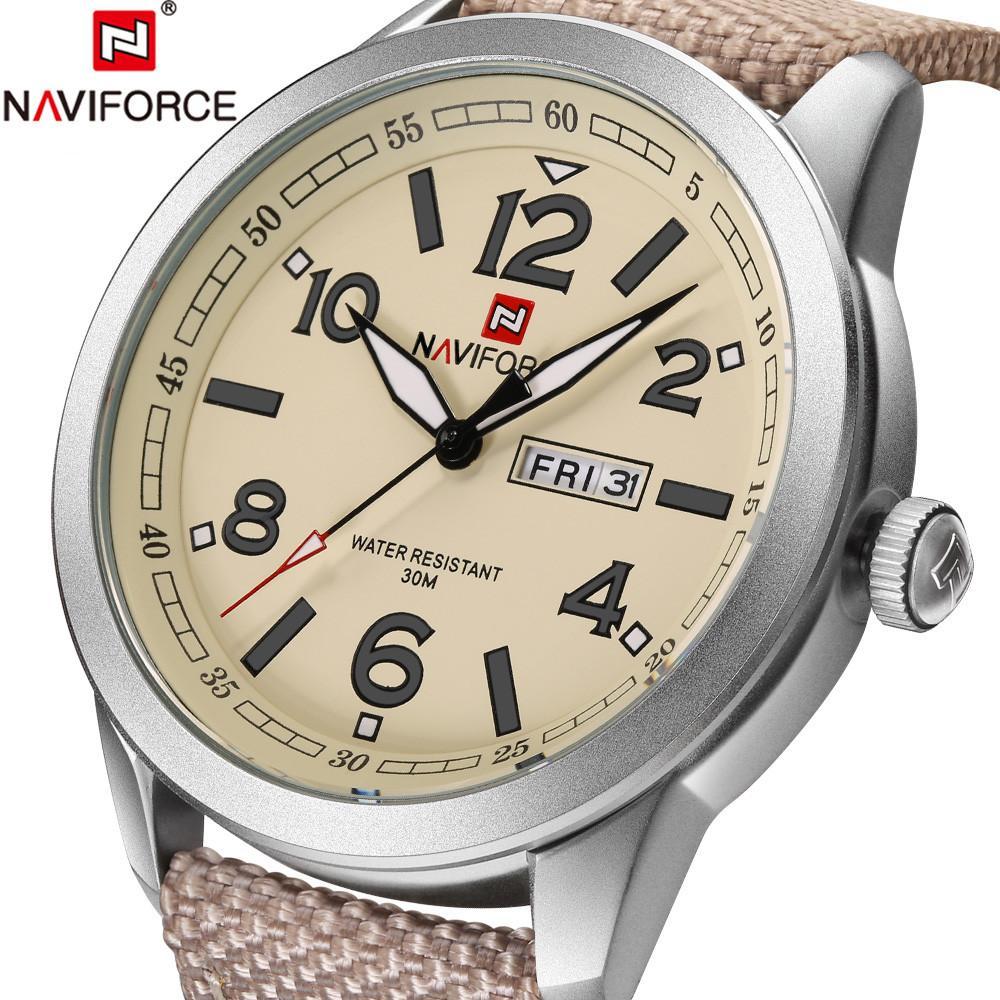 bc472a62a6d Compre NAVIFORCE Relógio Dos Homens Marca De Relógio Esporte Mens Relógios  Top Marca De Luxo Do Exército Negócios Banda De Couro De Quartzo Relógio ...