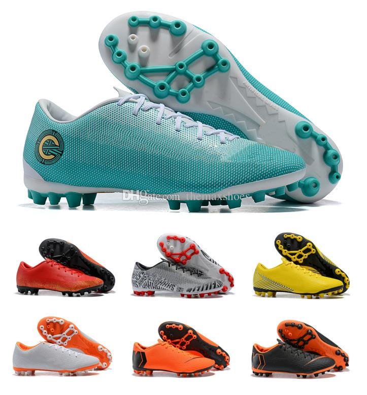 8f1393ed3 2019 Mens 2018 Mercurial Vapor XII Academy AG CR7 12 Low Ronaldo Neymar AG R  Women Boys Soccer Football Shoes Size 36 45 From Themaxshoes