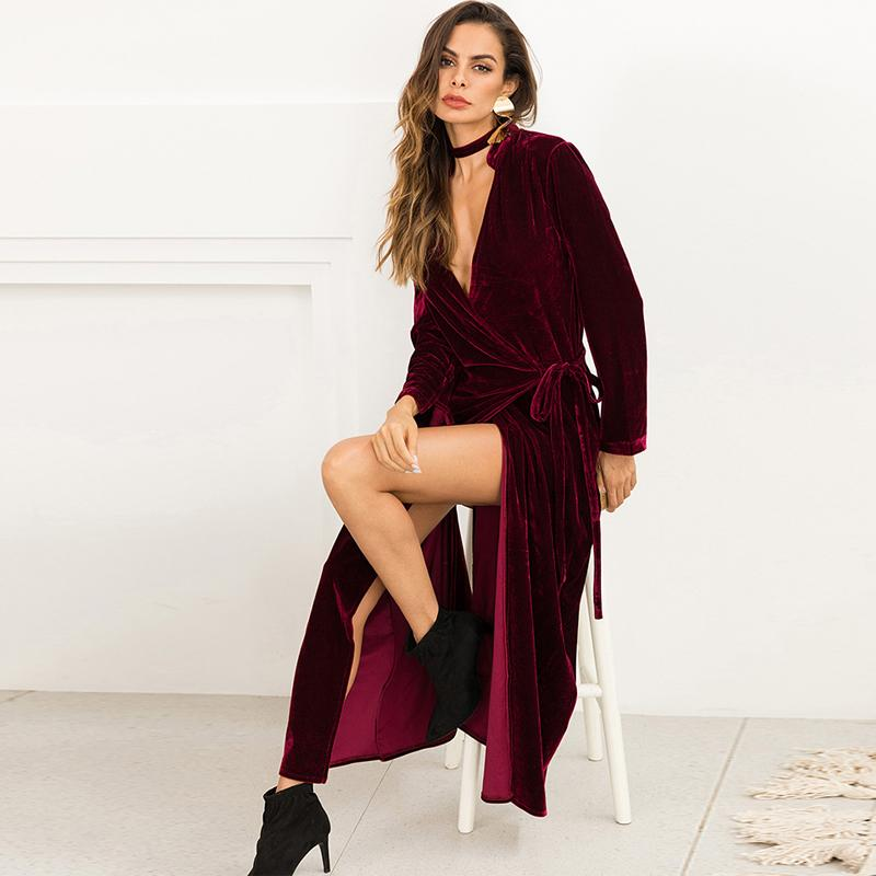e390242dc0579 2019 Plus Size Long Velvet Kimono Cardigan Mujer 2018 Autumn Winter Women  Oversize Trench Coat Skirt Clothes Manteau Femme Hiver From Layette66
