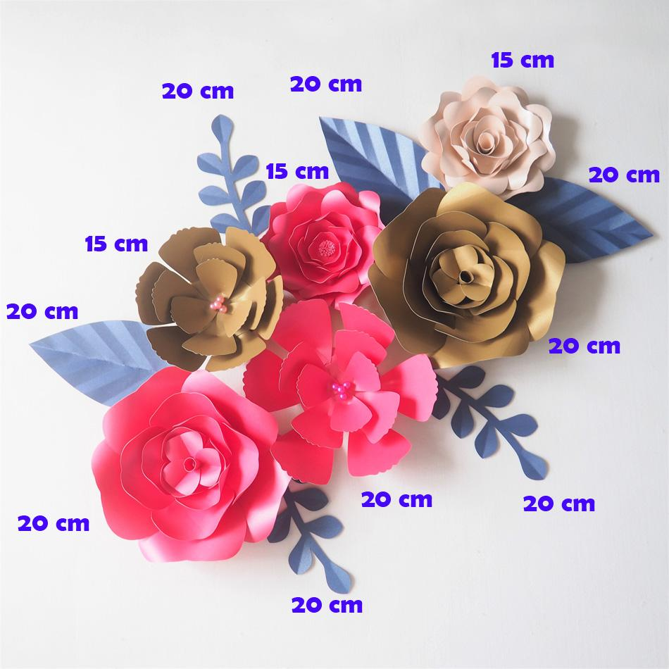 2018 Diy Giant Paper Flowers Backdrop Artificial Handmade Mix Flower