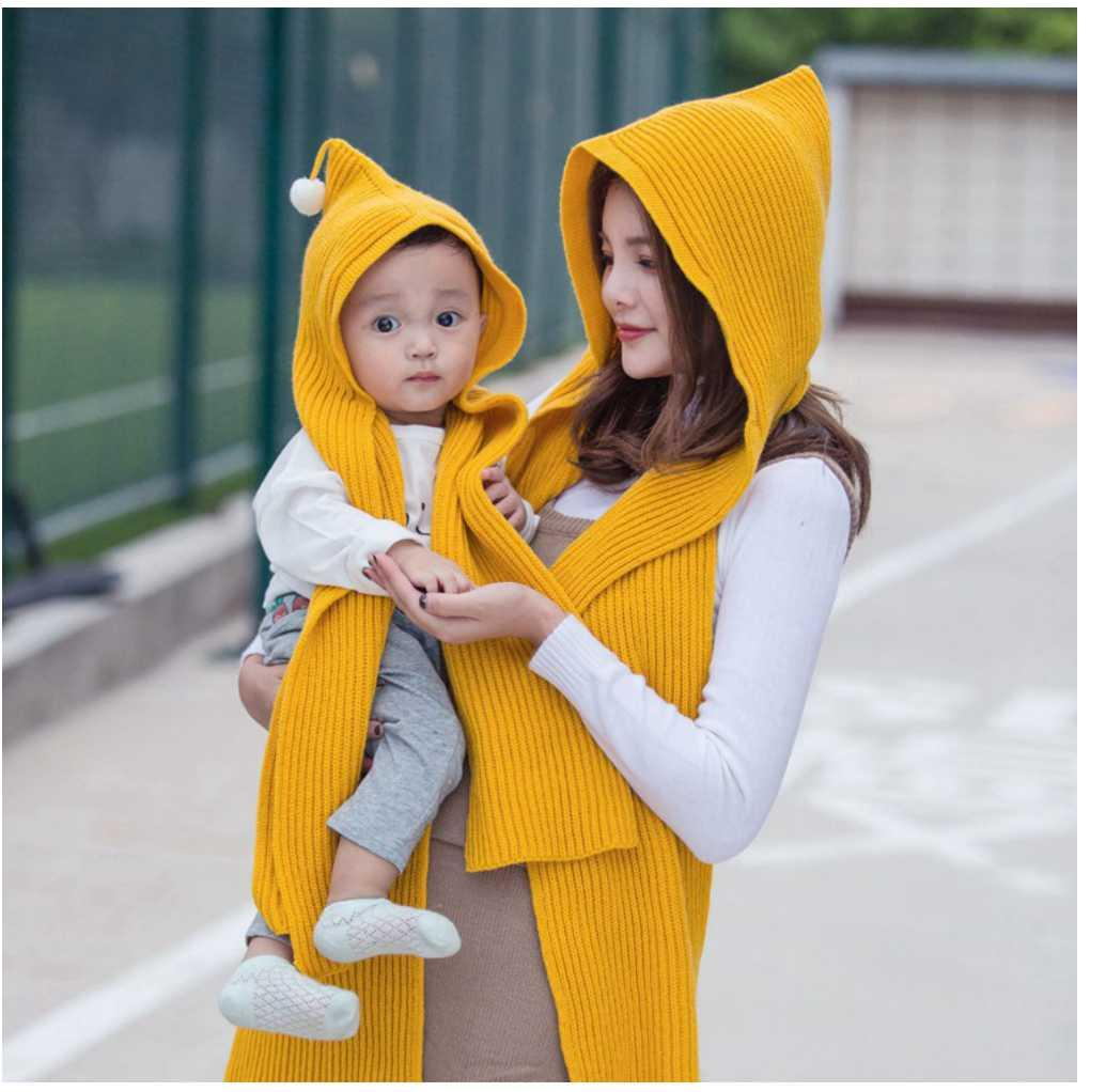 7e6dc32abbc 2019 Design Hooded Children S Scarf Winter Wool Boys Girls Knitted Earflap  Hat Snood Wraps Kids Solid Crochet Scarf And Hat For Child From Laurul
