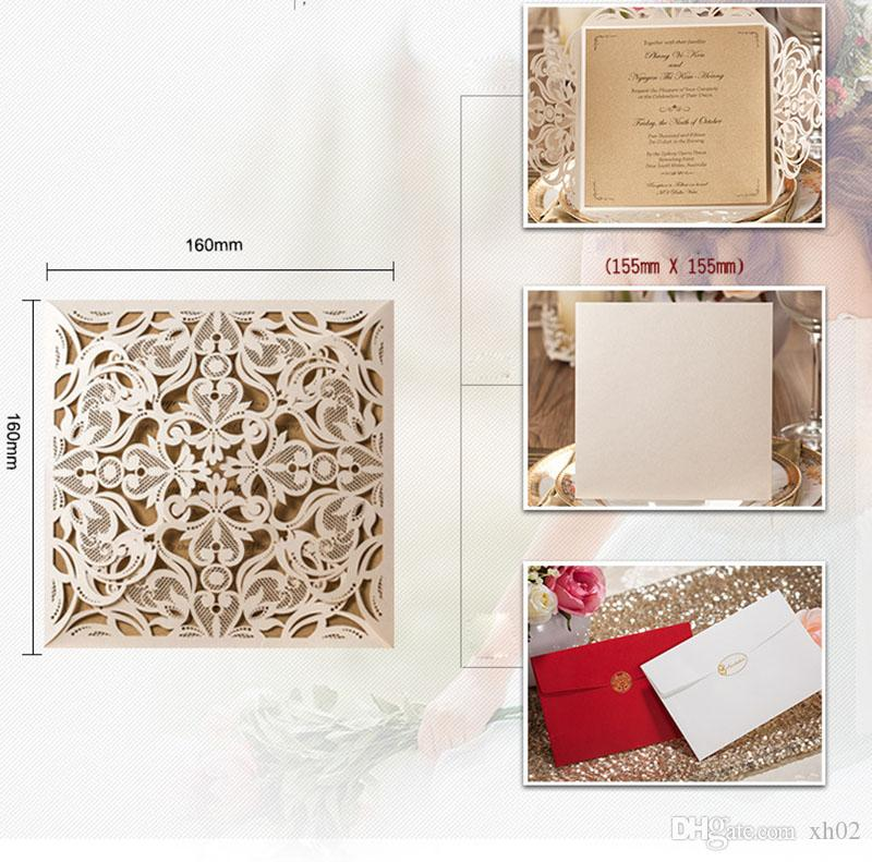 Sample White Laser Cut Wedding Invitations Card Post Greeting Cards With Ribbon Printable Baby Shower Event Party Supplies