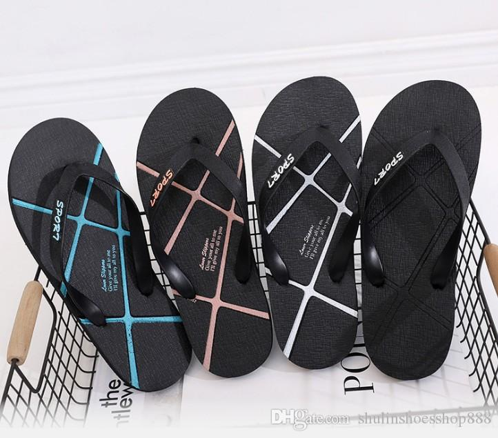 56b56c268a1a6 Cheap Wholesale Summer Flip Flop Men s Summer Beach Shoes Non-slip ...