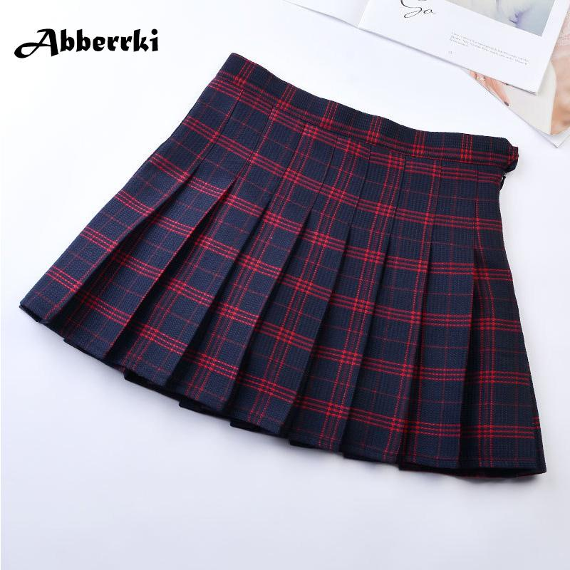 54384e68a6 2019 Korean Style Women Pleated Skirt Summer High Waist Japanese Sweets  Plaid Mini Skirt School Girl Saia Colegial Jupe Plisse Femme From Saltblue,  ...