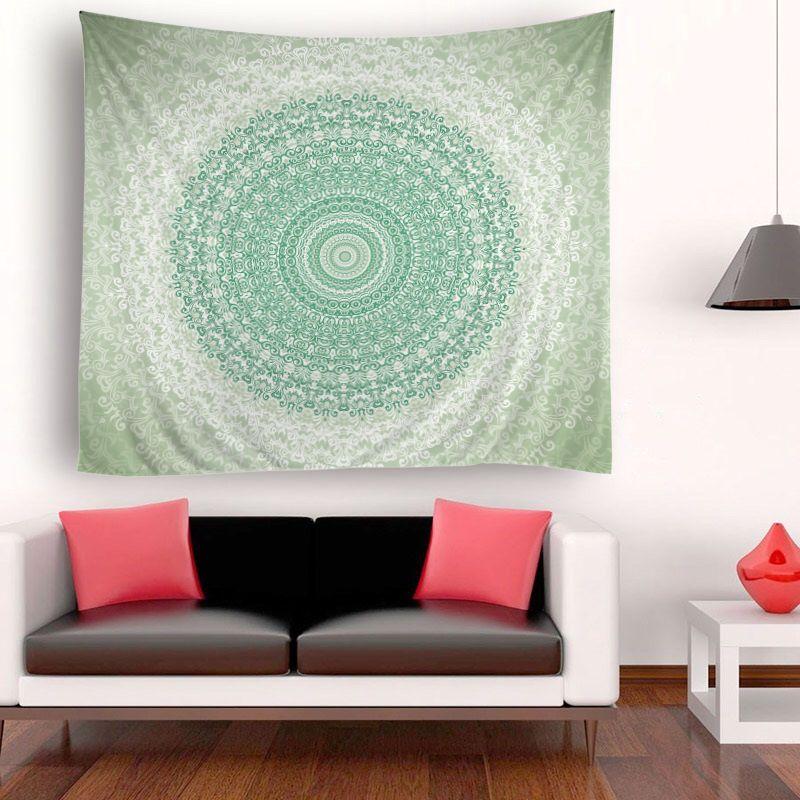 150x180 cm Pretty Yuvarlak Büyük Çiçekler Psychedelic Goblen Duvar Asılı Mandala Hippi Yatak Örtüsü Atmak