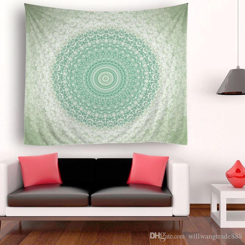 150x180cm Piuttosto grandi fiori tondi arazzo psichedelico appeso a parete Mandala Hippie copriletto