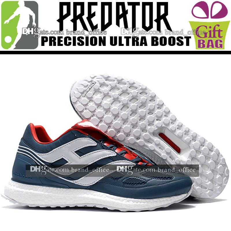 8efad1df1722f Original Men 2018 Training Soccer Boots High Top Predator Precision Ultra  Boost Football Boots Leather Trainers Soccer Shoes Football Cleats Girl  Black ...