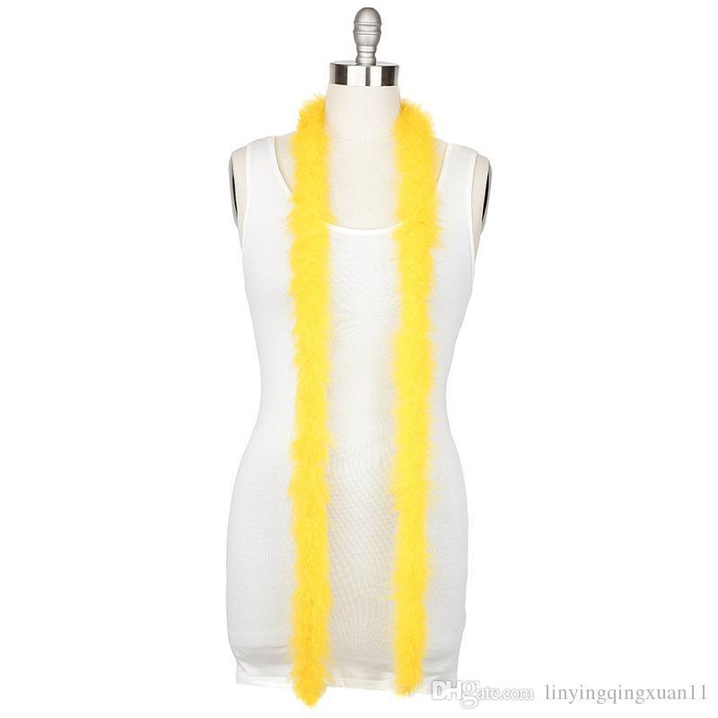 2m / pc 5cm di larghezza Accessori di abbigliamento Turchia Fluff Multi Color Strip Fluffy Boa Birthday Party Decorazioni di nozze Forniture