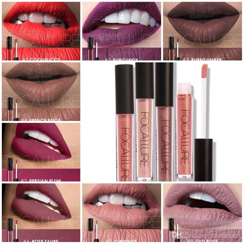 88f9ef7756435 New Focallure Matte Liquid Lip gloss Lipstick Waterproof Long Lasting Nude  Makeup Lip Tint Lipgloss 37 Colors