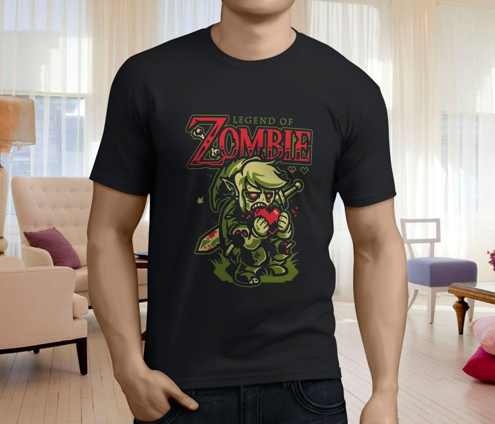 ddc6c112f66d New The Legend Of Zelda Zombie Funny Style Men s Black T-shirt Size ...