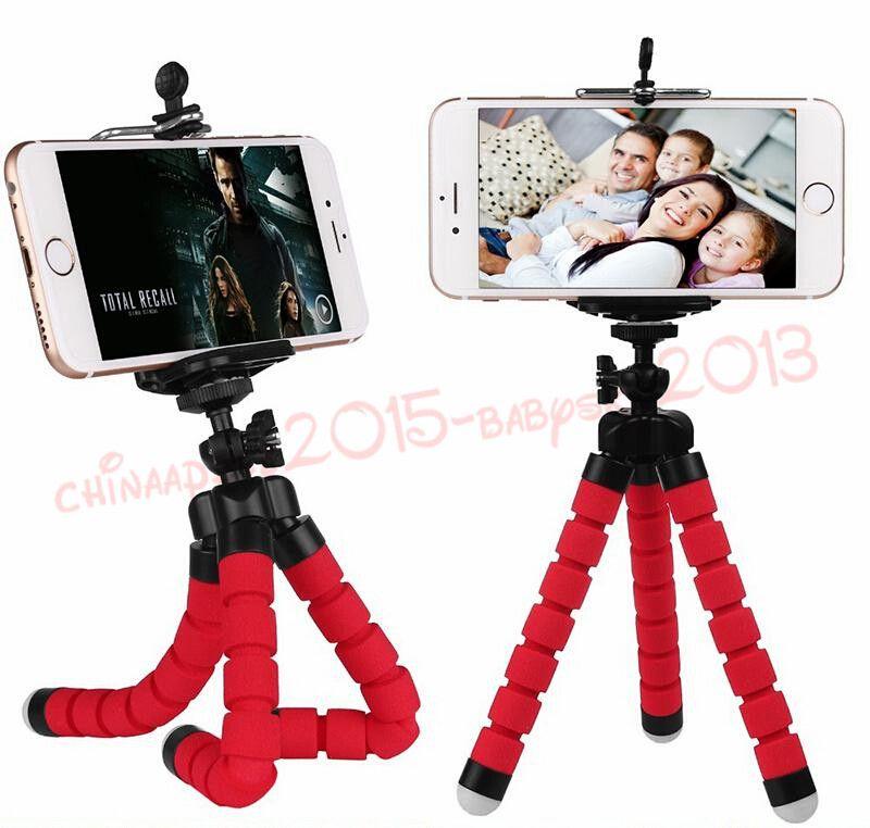 Titulaire de trépied flexible 3 col pour téléphone portable Caméra de voiture universelle mini poulpe Stand Support Selfie Monopode Monopode avec Clip de DHL