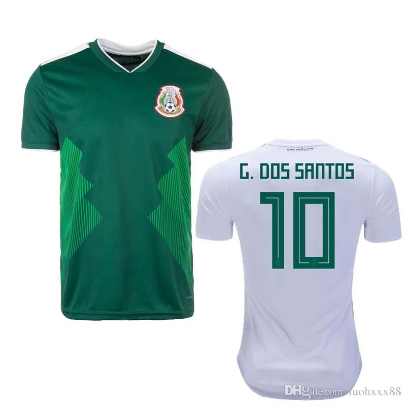 00d31c4af 2018 Mexico Soccer Jersey Home Green Away White CHICHARITO Camisetas ...