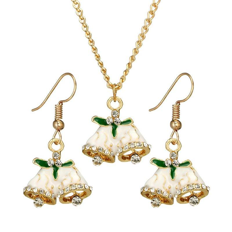 1f9f5d71e 2019 New Christmas Jewelry Set Cane Red Jingle Bell Santa Bell Necklace  Earrings Set Festival Christmas Gift For Girls Women Jewelry From  Qiufenshi, ...