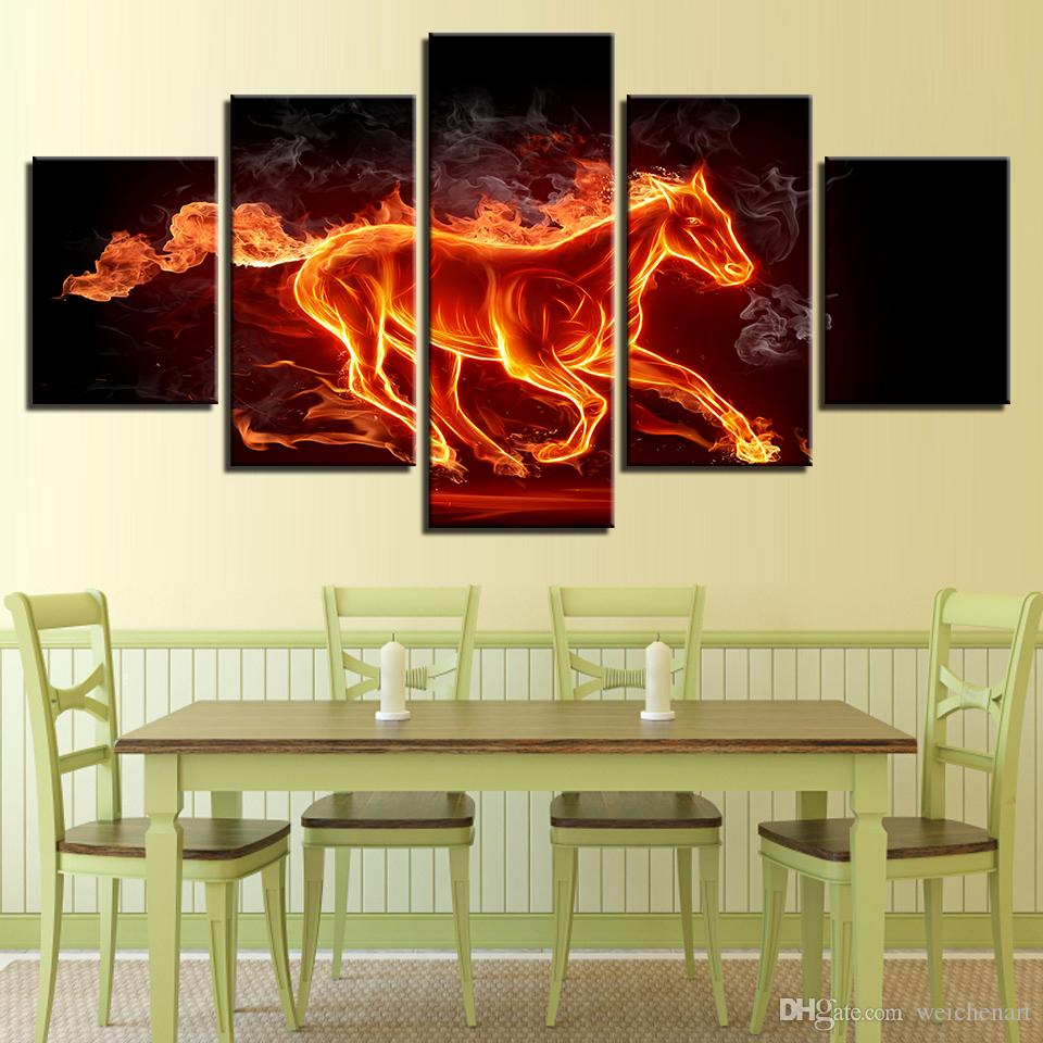 Wall Art Framework Canvas Paintings Living Room HD Prints Abstract ...
