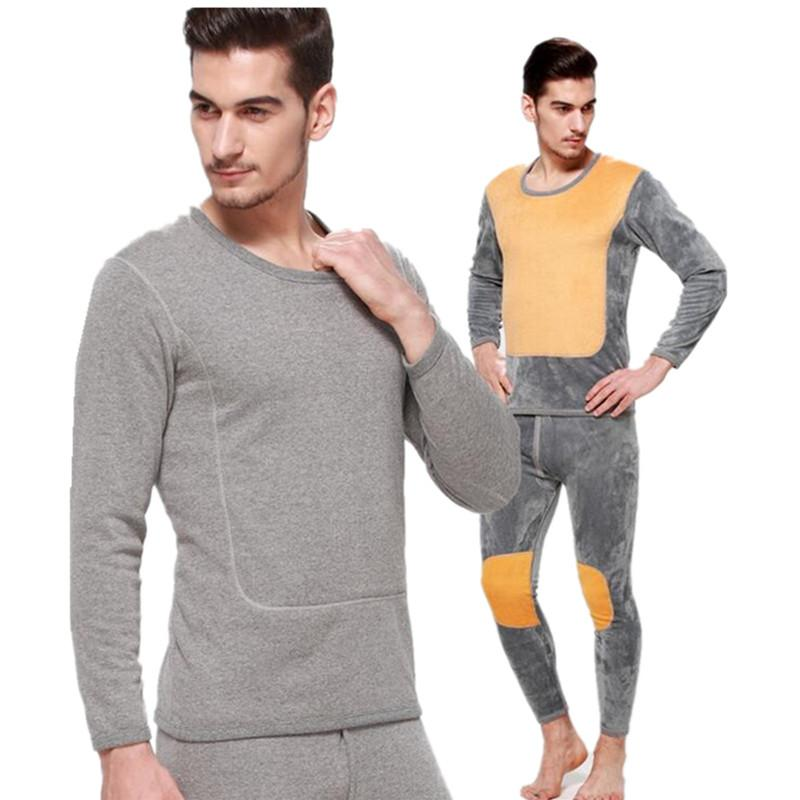 4166e50bf 2017 Hot Sale Acetate Blends Spandex Cotton Wool New Thermal Underwear Sets  Thick Plus Velvet Long Johns Hotwinter Mens Warm